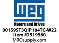 WEG 00159ST3QIP184TC-W22 1.5HP 900 3 60 460V IEEE-841