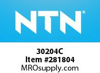 NTN 30204C SMALL SIZE TAPERED ROLLER BRG