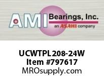 AMI UCWTPL208-24W 1-1/2 WIDE SET SCREW WHITE WIDE SLO SINGLE ROW BALL BEARING