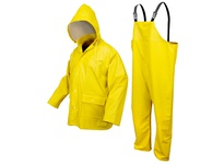 MCR 5182YXL Navigator .35 PU/Cotton Poly Jacket w/Detachable Hood D-Ring Access YELLOW