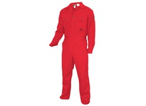 MCR DC1RR60 Deluxe FR Contractor Coverall 88% Cotton/12% Nylon Reflective Material Red 60
