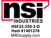 NSI HSF22-250-3-D SHRINK TUBE DISCONNECT 22 - 18 AWG LARGE PACK