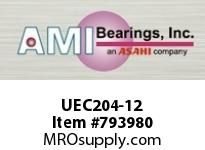 AMI UEC204-12 3/4 WIDE ACCU-LOC ROUND CARTRIDGE BEARING