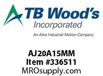 TBWOODS AJ20A15MM AJ20-AX15MM FF COUP HUB