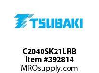 US Tsubaki C2040SK21LRB C2040 RIV 1L/SK-2
