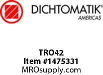 Dichtomatik TRO42 ROD SEAL ROD TEE SEAL NITRILE WITH NYLON BACK UP RINGS