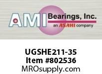 AMI UGSHE211-35 2-3/16 WIDE ECCENTRIC COLLAR TAPPED BLOCK SINGLE ROW BALL BEARING