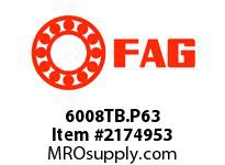 FAG 6008TB.P63 RADIAL DEEP GROOVE BALL BEARINGS