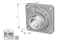 INA PCJY25 Four-bolt flanged unit