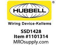 HBL-WDK SSD1428 WALLPLATE 1-G D-HOLE SS