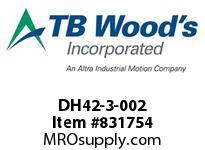 TBWOODS DH42-3-002 HUB-CLAMP 3.750 DIA X .875 KW