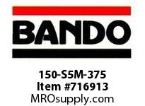 Bando 150-S5M-375 SYNCHRO-LINK STS TIMING BELT NUMBER OF TEETH: 75 WIDTH: 15 MILLIMETER