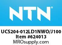 NTN UCS204-012LD1NWO/J100 INSERT BEARING(STANDARD) 3/4^BORE