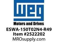 WEG ESWA-150T02N4-R49 FVNR 60HP/230V T-A 4 T02 Panels