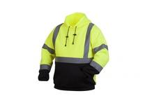 Pyramex RSSH3210X3 Hi-Vis Lime Pullover Sweatshirt with Black Bottom- Size 3X Large