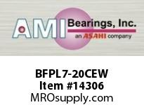AMI BFPL7-20CEW 1-1/4 NARROW SET SCREW WHITE 4-BOLT PLASTIC HSG W/C.C & BS