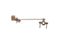 NSI G-79 BRONZE GROUND CLAMP FOR RIGID CONDUIT W/ FLEXIBLE COPPER STRAP 3/4^ CONDUIT HUB 1/2^ - 1^ WATER PIPE SIZE 2/0 STR GROUND WIRE MAX