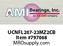 AMI UCNFL207-23MZ2CB 1-7/16 ZINC WIDE SET SCREW BLACK 2- OPN COV SINGLE ROW BALL BEARING