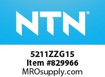 NTN 5211ZZG15 DOUBLE ROW ANGULAR CONTACT