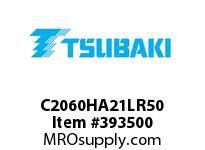 US Tsubaki C2060HA21LR50 C2060H RIV 1L/A-2 50FT