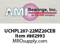 AMI UCHPL207-22MZ20CEB 1-3/8 KANIGEN SET SCREW BLACK HANGE OPN/CLS COVERS SINGLE ROW BALL BEARING