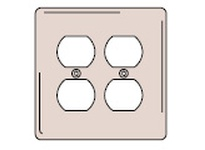HBL-WDK NP82GY WALLPLATE 2-G 2) DUP GY