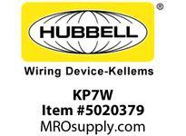 HBL_WDK KP7W FACEPLT KP SER 1-G 1.40^ WHT