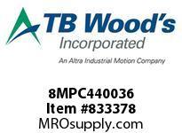 TBWOODS 8MPC440036 8MPC-4400-36 QTPCII BELT
