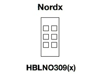 HBL-WDK HBLNO309I FACEPLATE SNAP-IN NORDX IV