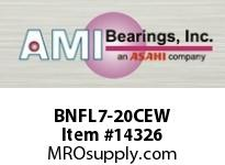 AMI BNFL7-20CEW 1-1/4 NARROW SET SCREW WHITE 2-BOLT PLASTIC HSG W/C.C & BS
