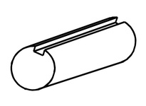 G & G 146-1100 11/16^ KEYED SHAFT: 12 KEYED SHAFTING (PRICED PER FOOT) TUBING/SHAFTING