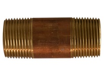 MRO 40100 1 X CLOSE RED BRASS NIPPLE