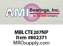 AMI MBLCTE207NP 35MM STAINLESS NAR SET SCREW NICKEL SINGLE ROW BALL BEARING