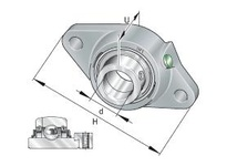 INA RCJT65 Two-bolt flanged unit