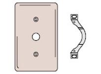 HBL-WDK NP128W WALLPLATE 2-G 1) DUP 1) .406 OPNG WH
