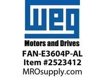 WEG FAN-E3604P-AL ALUMINUM FAN W/PIN STD-EFF. 36 Integrals
