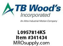 TBWOODS L0957814KS L095X7/8 1/4KW L-JAW HUB