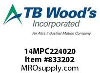TBWOODS 14MPC224020 14MPC-2240-20 QTPCII BELT