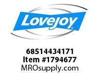 LoveJoy 68514434171 E BUSHING 2-1/4 1/2X1/4 KW