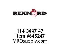 REXNORD 114-3647-47 ATCH WLA1500 F1 N2 BOTH