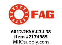 FAG 6012.2RSR.C3.L38 RADIAL DEEP GROOVE BALL BEARINGS