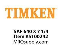 TIMKEN SAF 640 X 7 1/4 SRB Pillow Block Housing Only