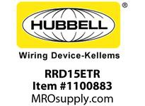 HBL-WDK RRD15ETR RCPT DUP DEC TR 15A 125V P-TERM BR