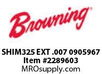 Browning SHIM325 EXT .007 0905967 RENEWAL PARTS USGM