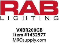 RAB VXBR200GB VAPORPROOF 200 WALL BRK 4 BOX 1/2 BLACK GL GLOBE WIRE GD