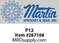 Martin Sprocket P12 PUNCHSOLID1/16