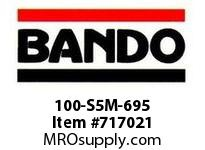 Bando 100-S5M-695 SYNCHRO-LINK STS TIMING BELT NUMBER OF TEETH: 139 WIDTH: 10 MILLIMETER