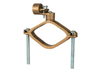 NSI G-24 HEAVY DUTY BRONZE GROUND CLAMP FOR RIGID CONDUIT 1^ CONDUIT HUB 2 1/2^ - 4^ WATER PIPE 3/0 STR GROUND WIRE MAX