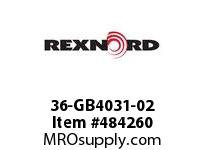 REXNORD 6480748 36-GB4031-02 IDL*P/A 4.75RIS STL F/S