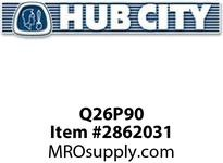 HUB CITY Q26P90 320 COUPLING QUILL 24MM Service Part